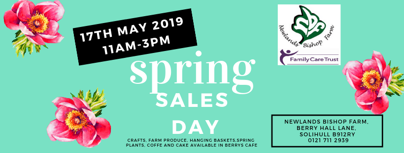 Newlands Bishop Farm Spring Sales Day 17th May 11-3