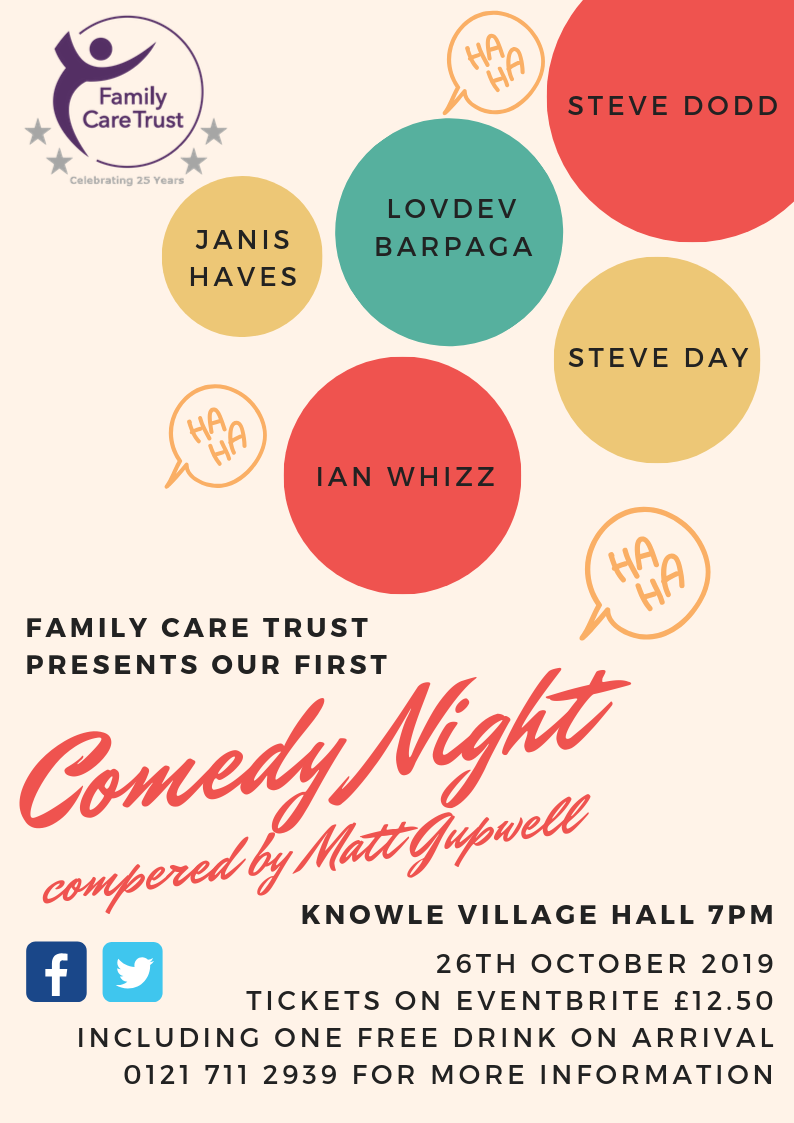 Tickets now available for Family Care Trusts comedy night
